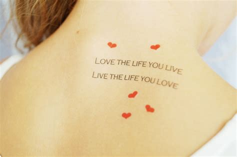 tattoo love the life you live fake tattoos scandinavian temporary tattoos love the
