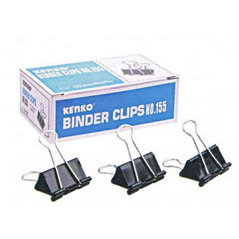 Kenko Binder Clip No 155 binder kenko no 155 clip paper klip kertas penjepit
