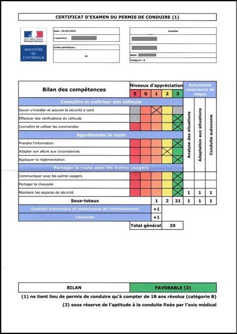 Grille Examen Permis by Gagner Un Max De Points 224 L Examen Du Permis