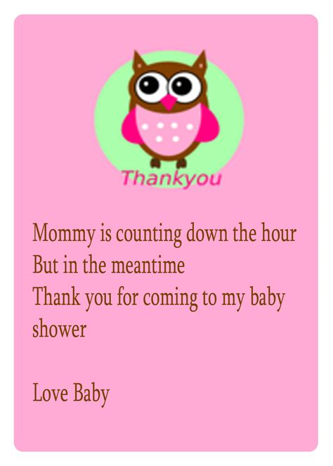 baby poems for baby showers baby shower thank you poems