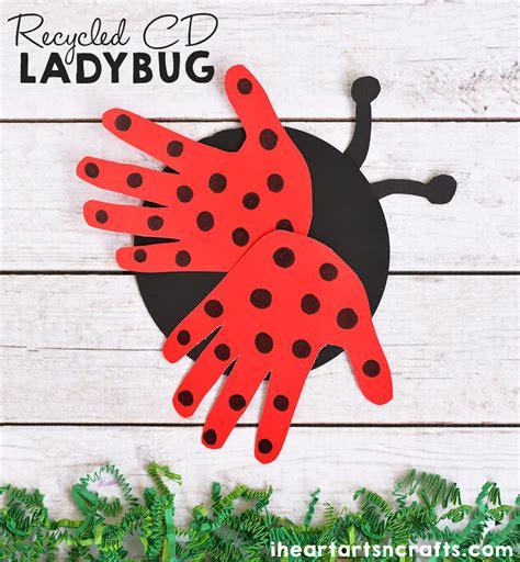 ladybug pattern for kindergarten recycled cd ladybug craft for kids i heart arts n crafts