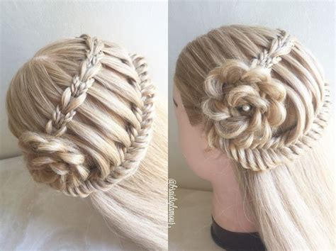 lace fishtail into a fishtail bun mimiamassari hair 1313 best images about hairstyles i love complex braiding