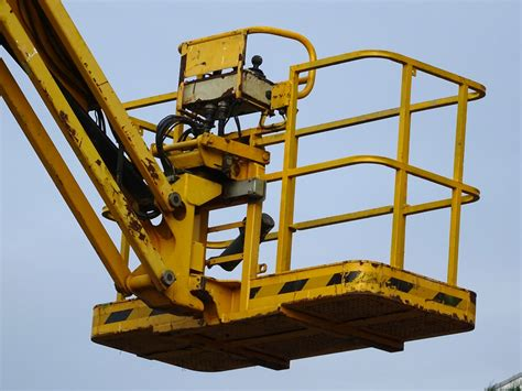 Cherry Picker Machine by Cherry Picker Cage Free Stock Photo Domain Pictures