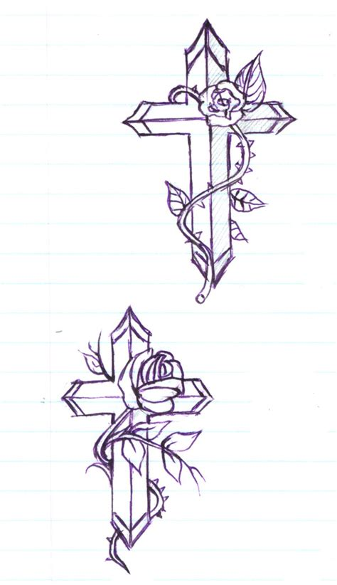 flower cross tattoo designs cross tattoos page 103