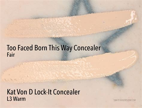 kat von d lock it tattoo concealer new faced born this way concealer in fair d