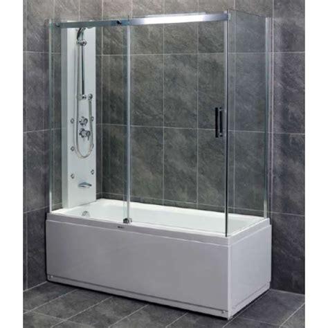 cabine per vasca da bagno vasca da bagno con chiusura in vetro minimis co