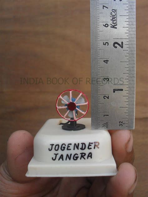 fan in smallest table fan india book of records