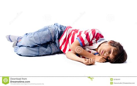 How To Sleep On The Floor by Child Sleeping On White Background Stock Image Image