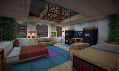 rooms in minecraft style town with hotel on world of keralis minecraft project