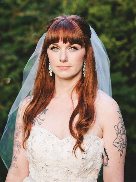 Wedding Hair Up With Fringe by Half Up Wedding Hairstyle Ideas With Curls Flowers And Braids