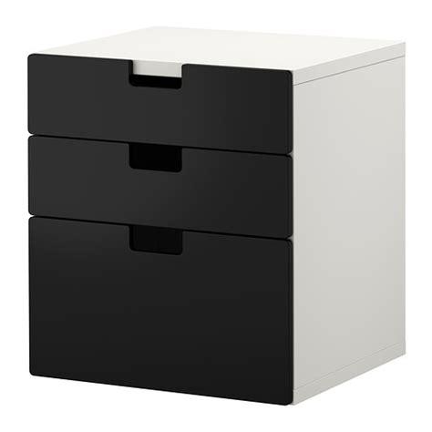 Ikea Malm Lemari 3 Laci Putih stuva lemari 3 laci hitam ikea
