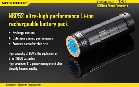 Senter Lu Kepala nitecore tm36 senter led luminus sbt 70 1800 lumens