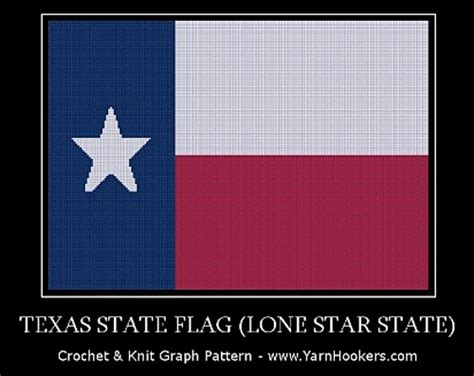 Lone Star State Texas Flag Crochet Pattern