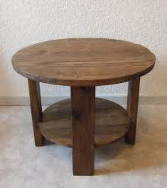 table basse ronde en bois table de lit
