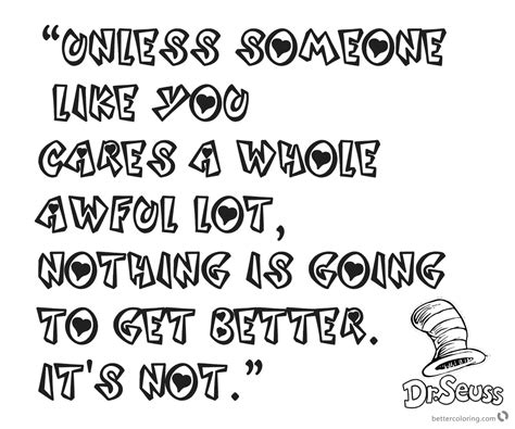 dr seuss quote coloring pages unless someone like you