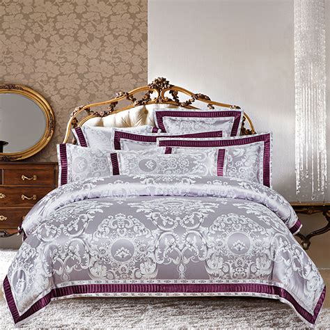 luxury bed baroque bed luxury bedroom set sophy european style luxury baroque satin jacquard bedding set