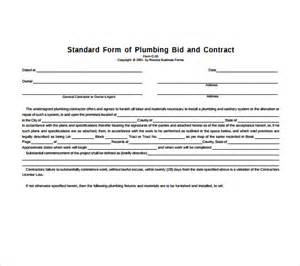 contract agreement template pdf plumbing contract template 8 documents in pdf