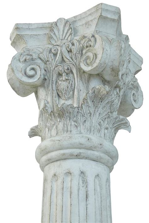 Decorative Top Of A Column by Large Pair Of Decorative Carved Wood Corinthian Columns