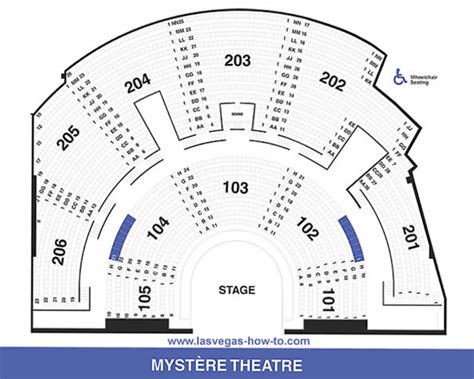 mystere theater seating map cirque du soleil mystere seating chart