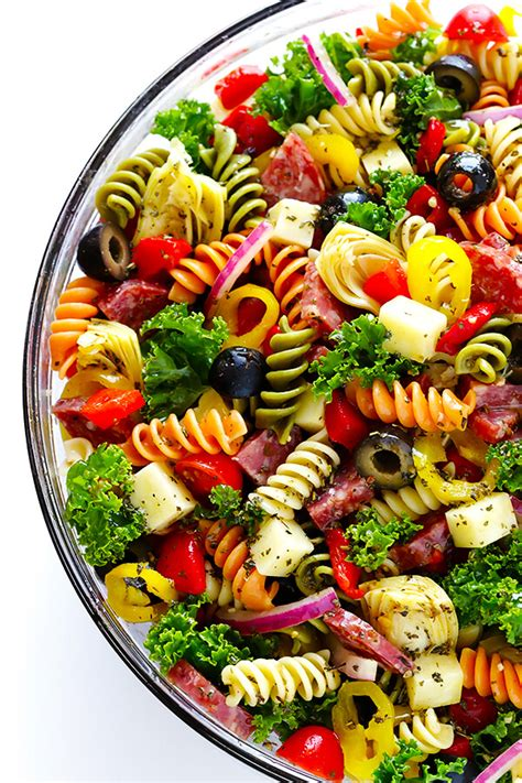 Cold Pasta Salad rainbow antipasto pasta salad gimme some oven