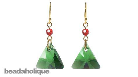 how to make swarovski jewelry how to make swarovski elements triangle pendant