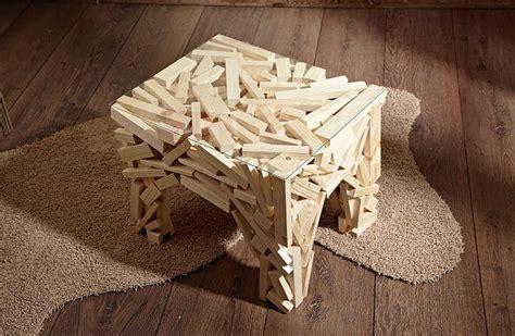 beistelltisch bauen tisch aus holzresten selber bauen