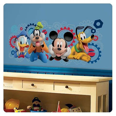 mickey mouse wall mural mouse clubhouse capers wall decals roommates mickey mouse