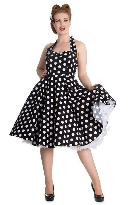 Swing Style Frauen by Mariam 50er Jahre Retro Polka Dots Swing Petticoat Kleid