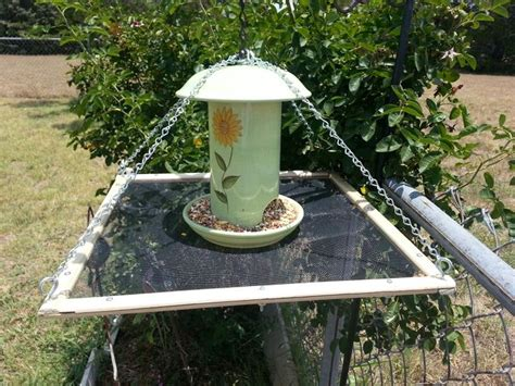 my first attempt at making a bird seed catcher now i can