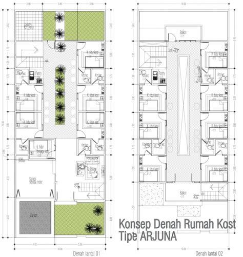 layout tempat kost contoh desain rumah kost dua lantai 2014 info bisnis
