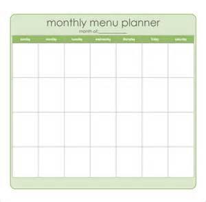monthly dinner menu template 8 best images of sle monthly menu planner printable