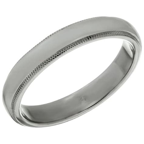 and co platinum milgrain s wedding band ring