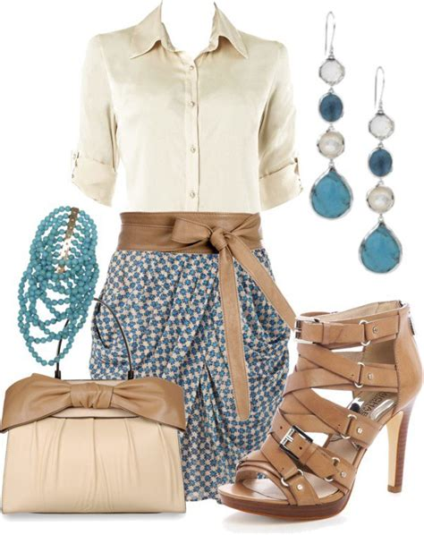 cute spring polyvore outfits  wear  work