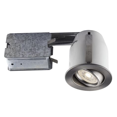 3 led recessed lighting kit bazz recessed led 3 in brushed chrome recessed led
