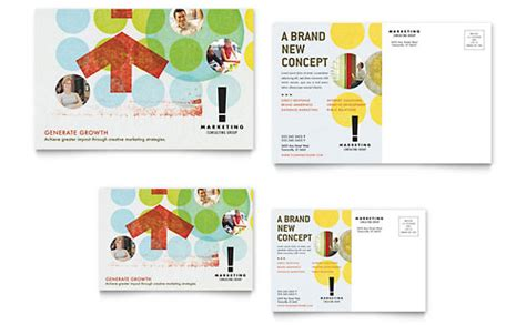 Marketing Agency Postcards Templates Designs Professional Postcard Templates
