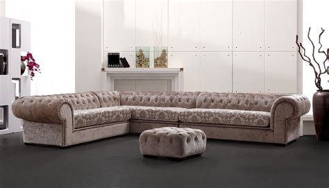 Tufted Sectional Sofa Divani Casa Metropolitan Transitional Acrylic Tufted Fabric Sectional Sofa