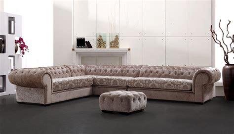 Divani Casa Metropolitan Transitional Acrylic Crystal Tufted Fabric Sectional Sofa