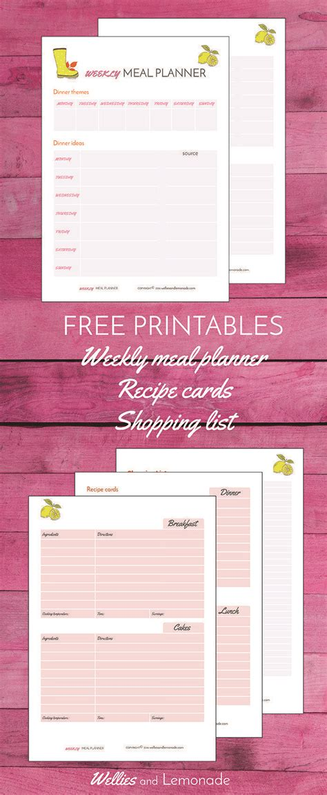 amazon com weekly meal planner and perforated grocery list