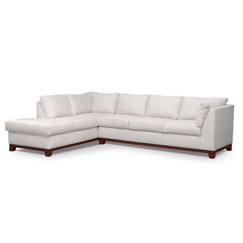 Soho 2 Piece Sectional With Left Facing Chaise Cement Value City Sectional Sofa