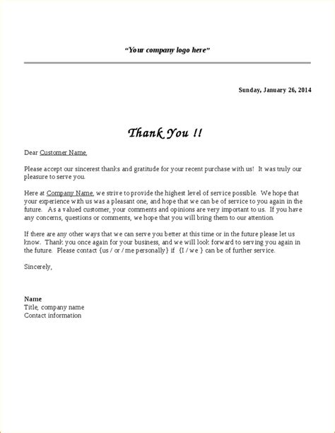 Thank You Letter For Within Company Business Letter Thank You For Your Business The Letter Sle