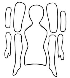 Doll Template by Jointed Paper Doll Template Fuzzy Ideas