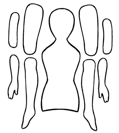 doll cut out template jointed paper doll template fuzzy ideas