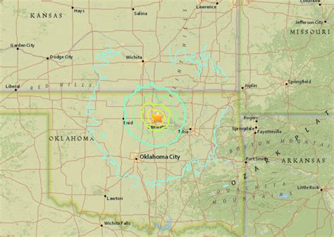 earthquake oklahoma m5 6 earthquake in oklahoma felt across the entire midwest