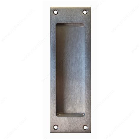 Recessed Door Pull by Flush Pull Handle Blank Passage Square Style