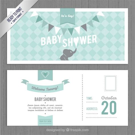 baby shower invitations free downloadable templates lovely baby shower invitation template vector free
