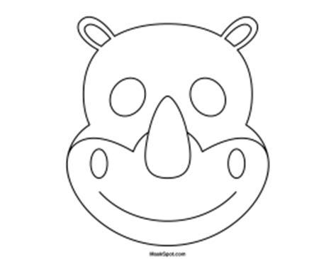 printable rhino mask rhino mask printable lingerie free pictures
