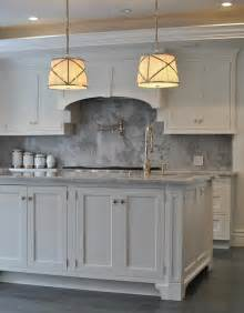 Marble Kitchen Cabinets Kitchen With Gray Marble Backsplash Transitional Kitchen
