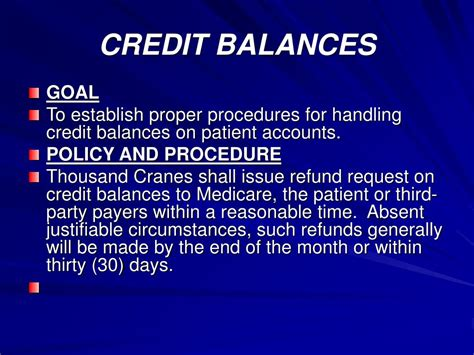 Medicare Credit Balance Form ppt compliance powerpoint presentation id 170631