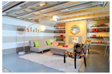 garage converted  living space create cozy atmosphere