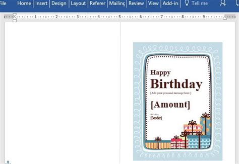 Birthday Gift Certificate Card Template For Word Powerpoint Gift Certificate Template